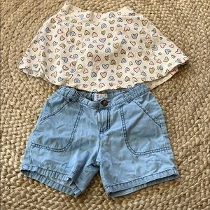 Other - Girls Shorts and Skirt Bundle